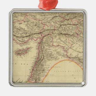 Turkey in Asia 3 Silver-Colored Square Ornament