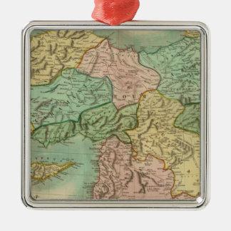 Turkey in Asia 5 Silver-Colored Square Ornament