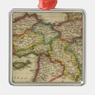 Turkey in Asia 6 Silver-Colored Square Ornament