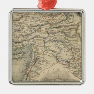 Turkey In Asia Silver-Colored Square Ornament