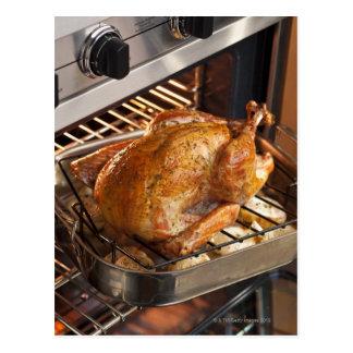 Turkey in oven postcard