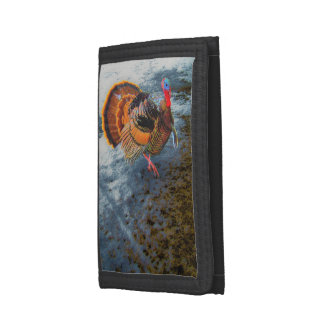 Turkey in Snow 2 Tri-fold Wallets