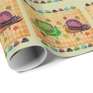 Turkey in the Fall Wrapping Paper