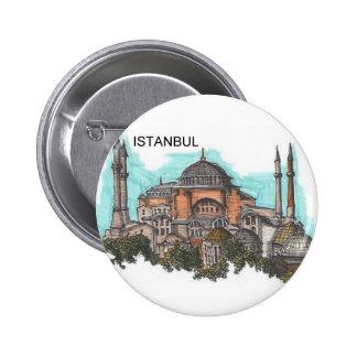 Turkey Istanbul Hagia Sophia (by St.K) 2 Inch Round Button