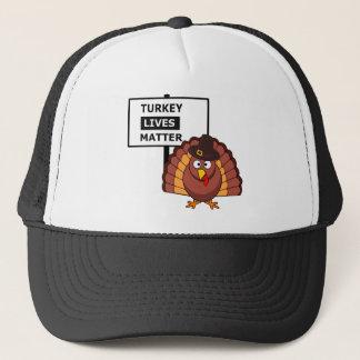 Turkey lives matter graphic trucker hat
