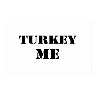 Turkey Me Business Card