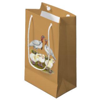 Turkey Mini White Family Small Gift Bag