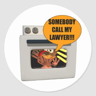 Turkey Need Lawyer Classic Round Sticker