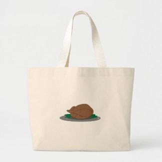 Turkey on Platter Canvas Bag