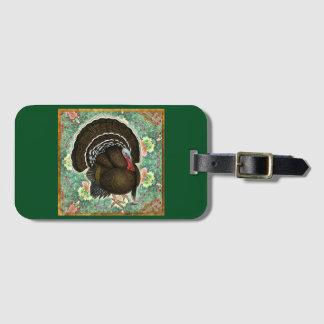 Turkey On the Greens Bag Tag