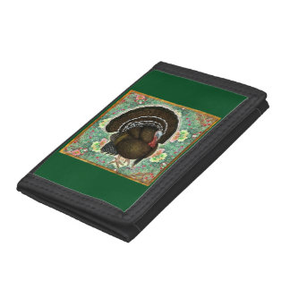Turkey On the Greens Tri-fold Wallets