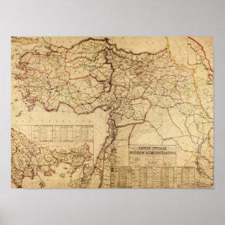 Turkey, Ottoman EmpirePanoramic MapTurkey Poster