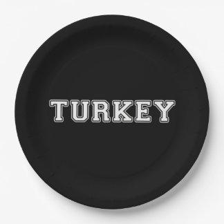 Turkey Paper Plate