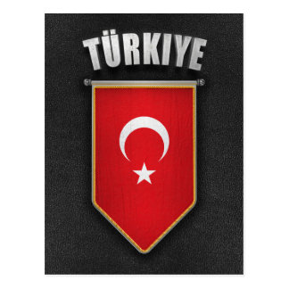 Turkey Pennant with high quality leather look Postcard