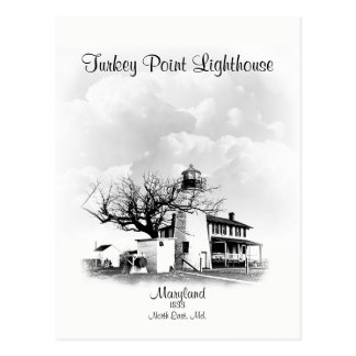 Turkey Point Lighthouse - Maryland Postcard