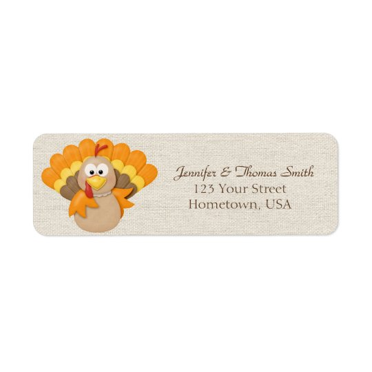 Turkey Return Address Label