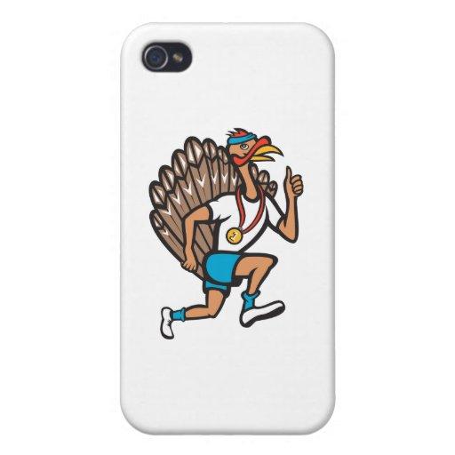 Turkey Run Runner Thumb Up Cartoon Cases For iPhone 4