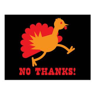 TURKEY running NO THANKS! Postcard