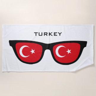 TURKEY Shades custom text beach towel