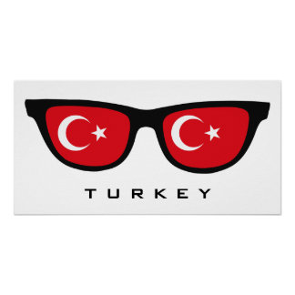 Turkey Shades custom text & color poster