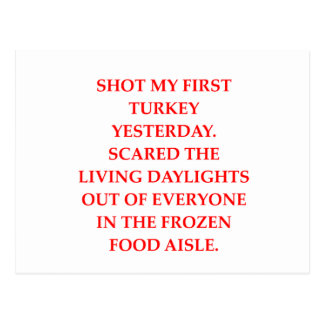 turkey shoot postcard