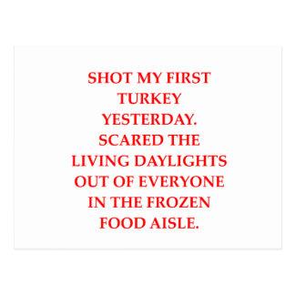 turkey shoot postcard