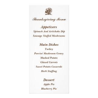 """Turkey"" Thanksgiving Menu Cards"