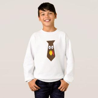 Turkey Tie Thanksgiving For Boy And Man Gift Sweatshirt
