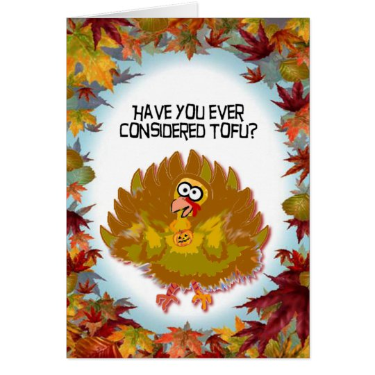 Turkey Tofu thanksgiving card
