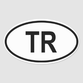 "Turkey ""TR"" Oval Sticker"