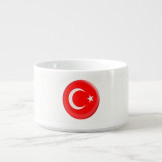 Turkey Turkish Red & White Flag Bowl