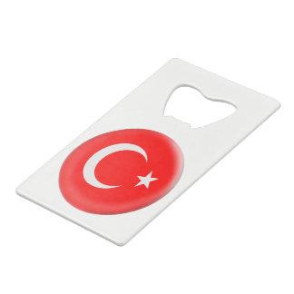 Turkey Turkish Red & White Flag Credit Card Bottle Opener