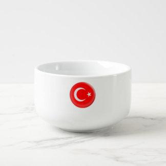 Turkey Turkish Red & White Flag Soup Mug
