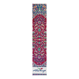 Turkey,Turkish,Textile,Cloth,Rug Pattern Muted Red Poster
