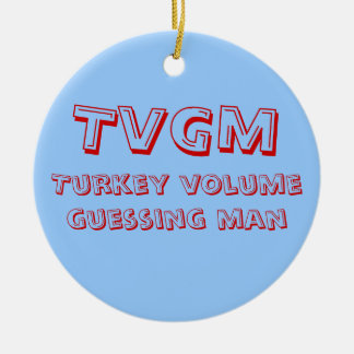 Turkey Volume Guessing Man Ceramic Ornament