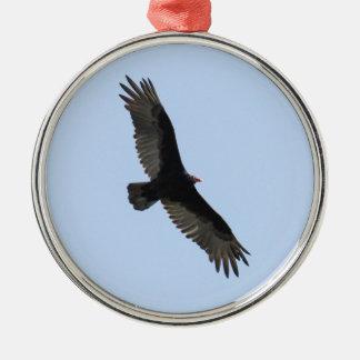 Turkey Vulture Silver-Colored Round Ornament