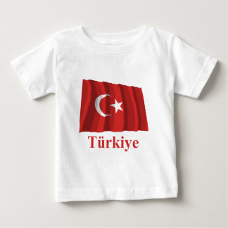 Turkey Waving Flag with Name in Turkish Baby T-Shirt