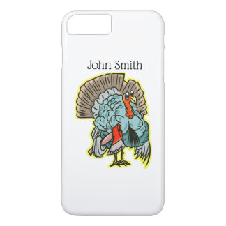 Turkey with an ax funny thanksgiving iPhone 8 plus/7 plus case