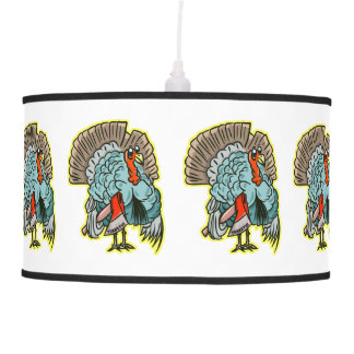 Turkey with an ax funny thanksgiving pendant lamp