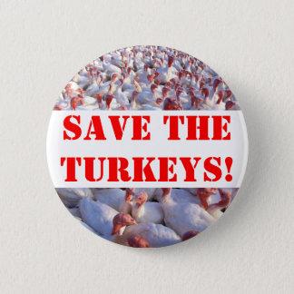 Turkeys 2 Inch Round Button