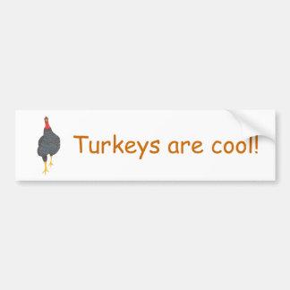 Turkeys are cool, pointillism Bumper Stickers