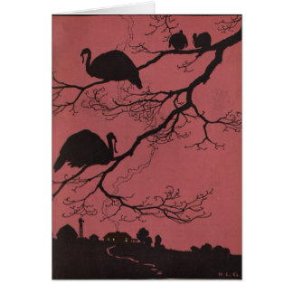 Turkeys in a Tree Card