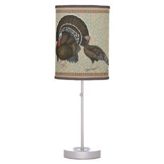 Turkeys Standard Bronze Portrait Table Lamp
