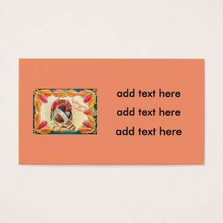 Turkeys Sweet Corn Indian Corn Feed Business Card