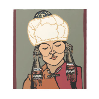Turkic Woman Notepad