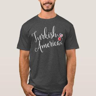 Turkish American Entwinted Hearts Tee Shirt