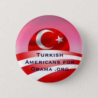 Turkish Americans for Obama .org 2 Inch Round Button
