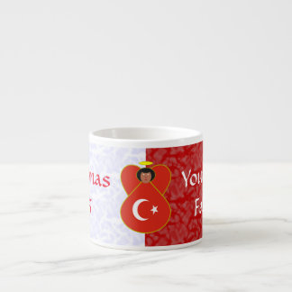 Turkish Angel Flag Red White Espresso Cup