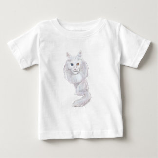 Turkish Angora Caricature Baby T-Shirt