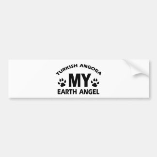 TURKISH ANGORA cat design Bumper Sticker
